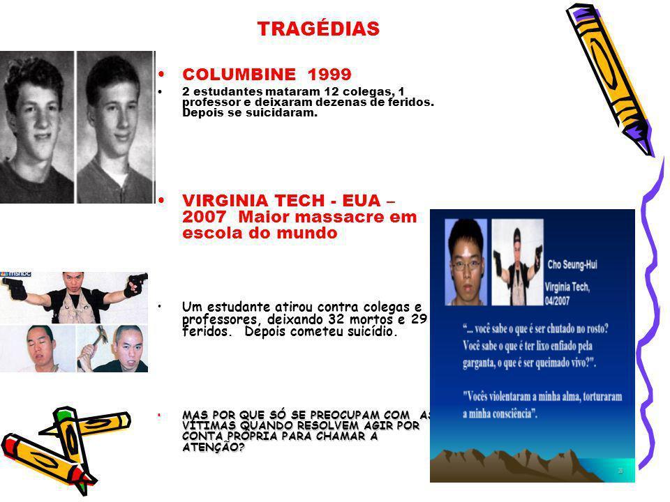 TRAGÉDIAS TRAGÉDIAS COLUMBINE 1999