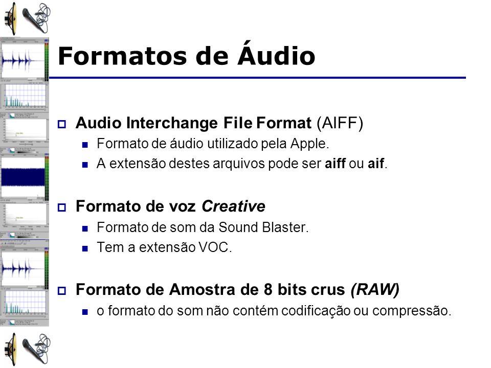 Formatos de Áudio Audio Interchange File Format (AIFF)