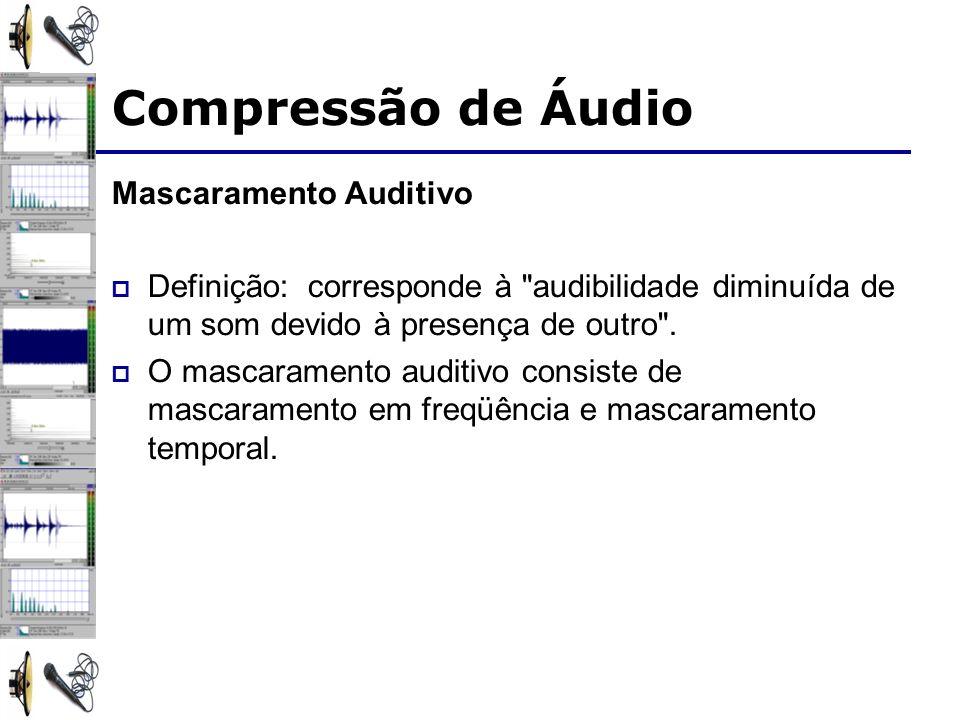 Compressão de Áudio Mascaramento Auditivo