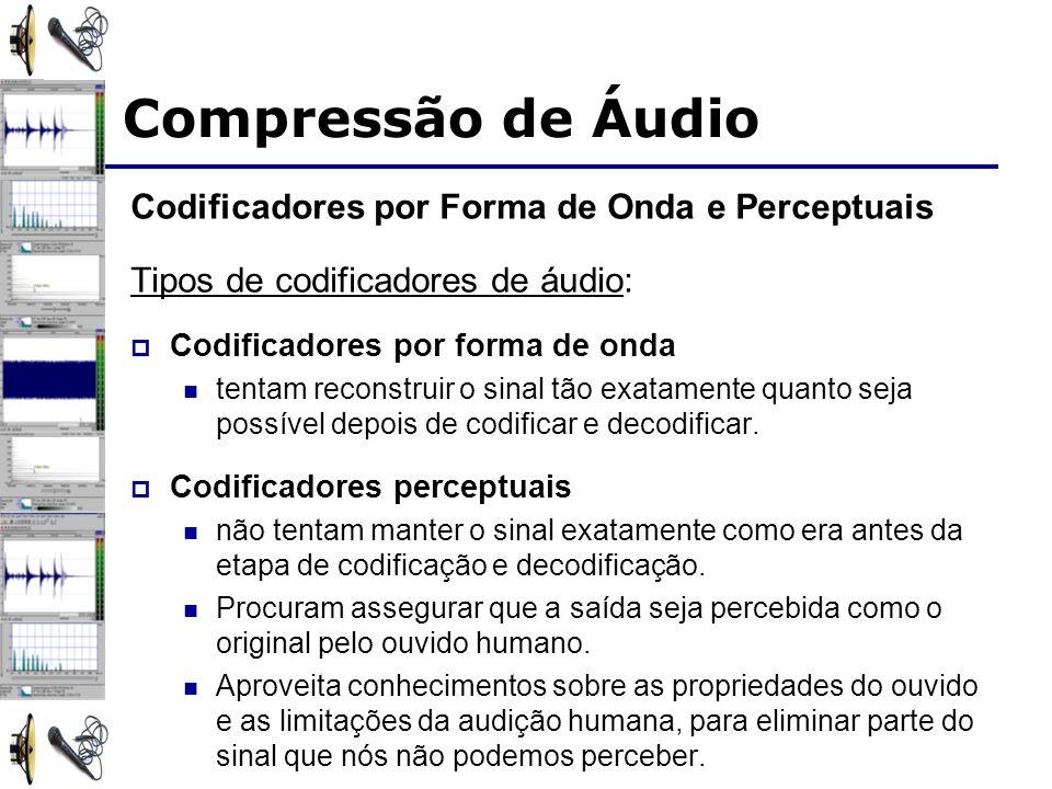 Compressão de Áudio Codificadores por Forma de Onda e Perceptuais