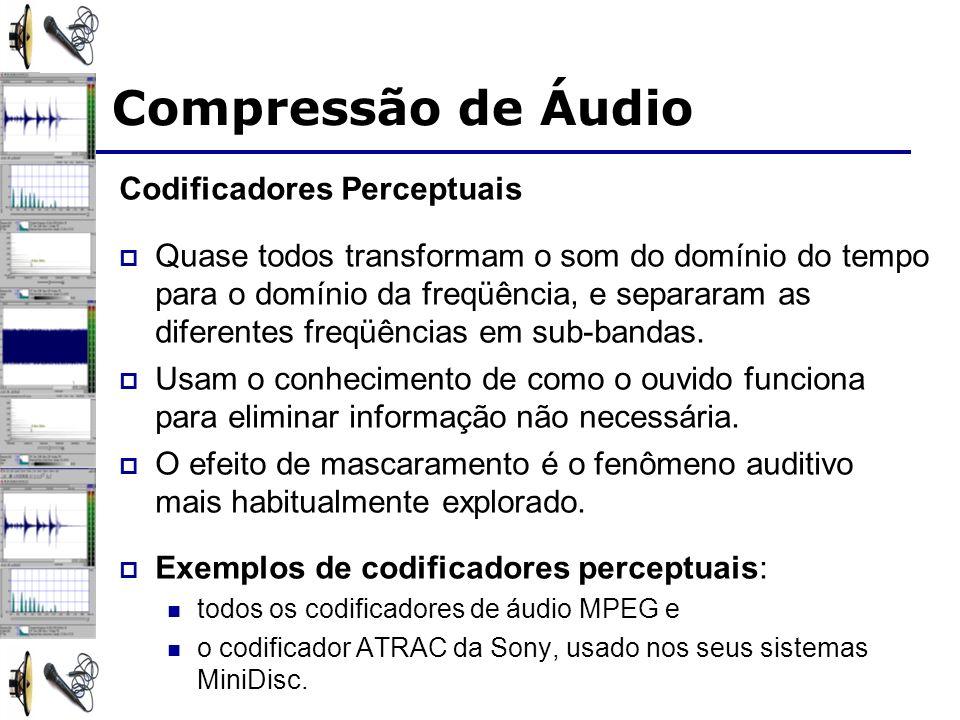 Compressão de Áudio Codificadores Perceptuais
