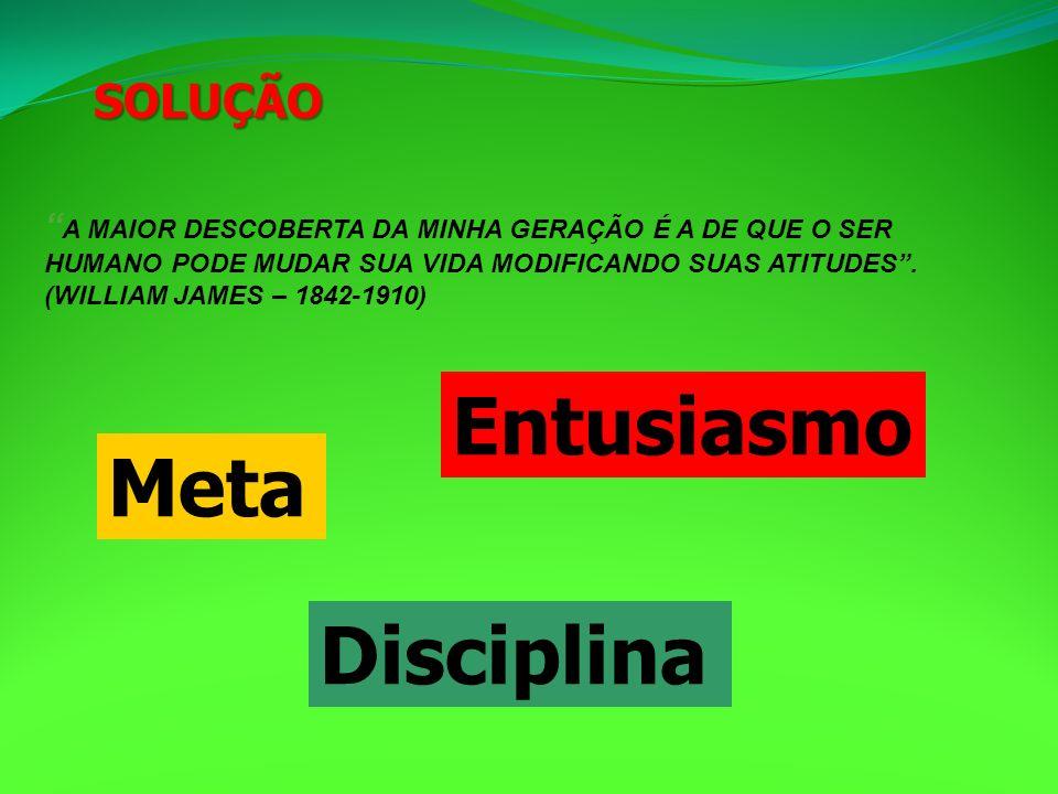 Entusiasmo Meta Disciplina SOLUÇÃO