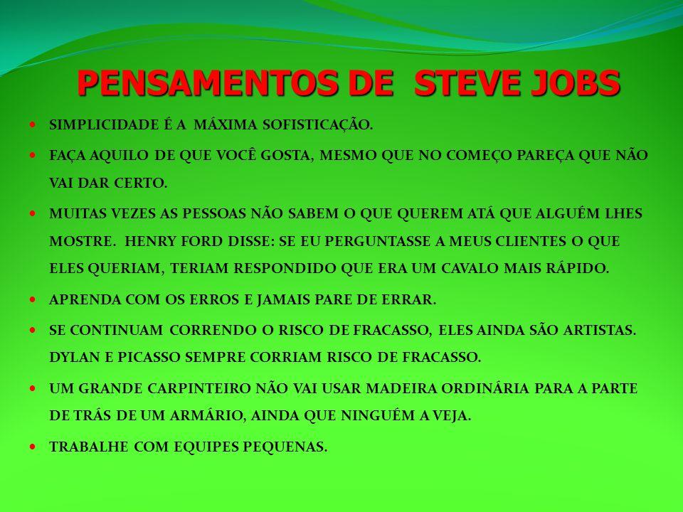 PENSAMENTOS DE STEVE JOBS