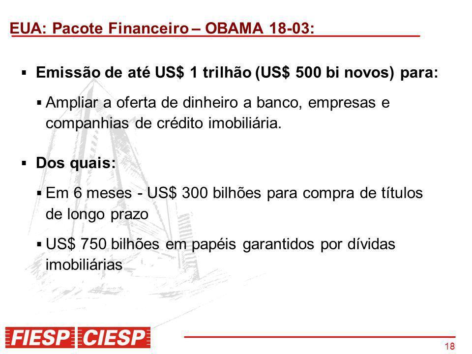 EUA: Pacote Financeiro – OBAMA 18-03:
