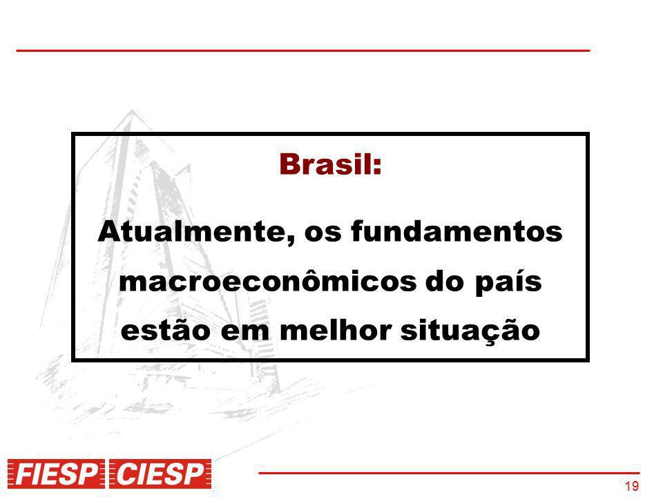 Brasil: Atualmente, os fundamentos macroeconômicos do país estão em melhor situação