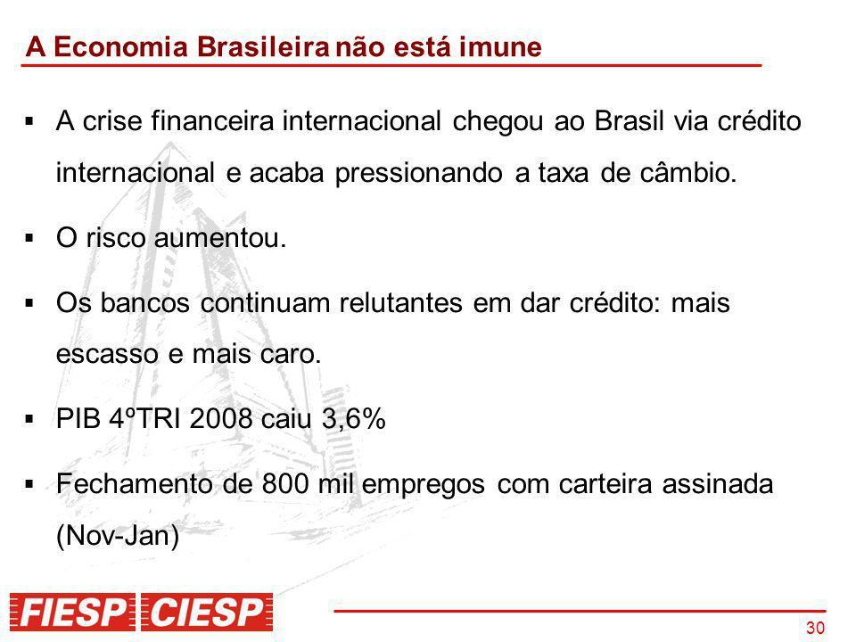 A Economia Brasileira não está imune