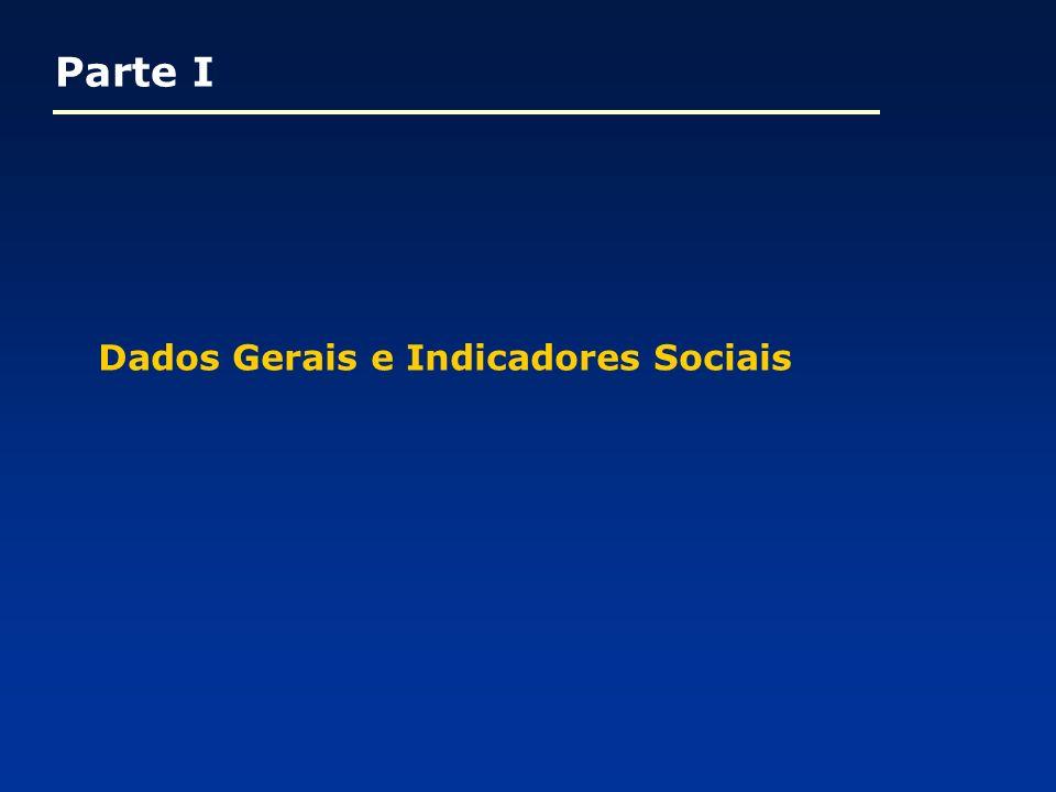 Parte I Dados Gerais e Indicadores Sociais