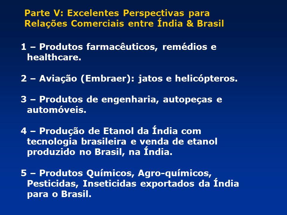 Parte V: Excelentes Perspectivas para Relações Comerciais entre Índia & Brasil