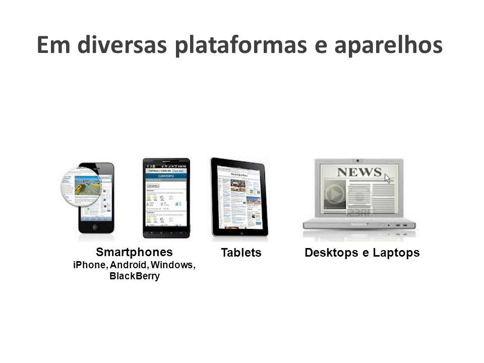 Em diversas plataformas e aparelhos