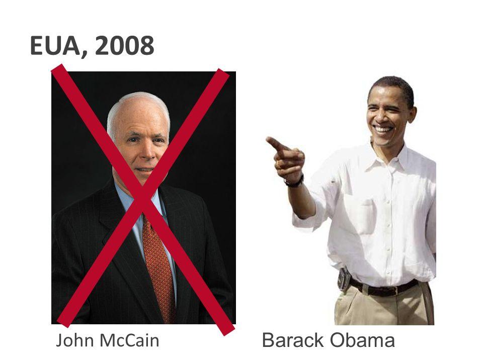 EUA, 2008 Clique para adicionar texto John McCain Barack Obama