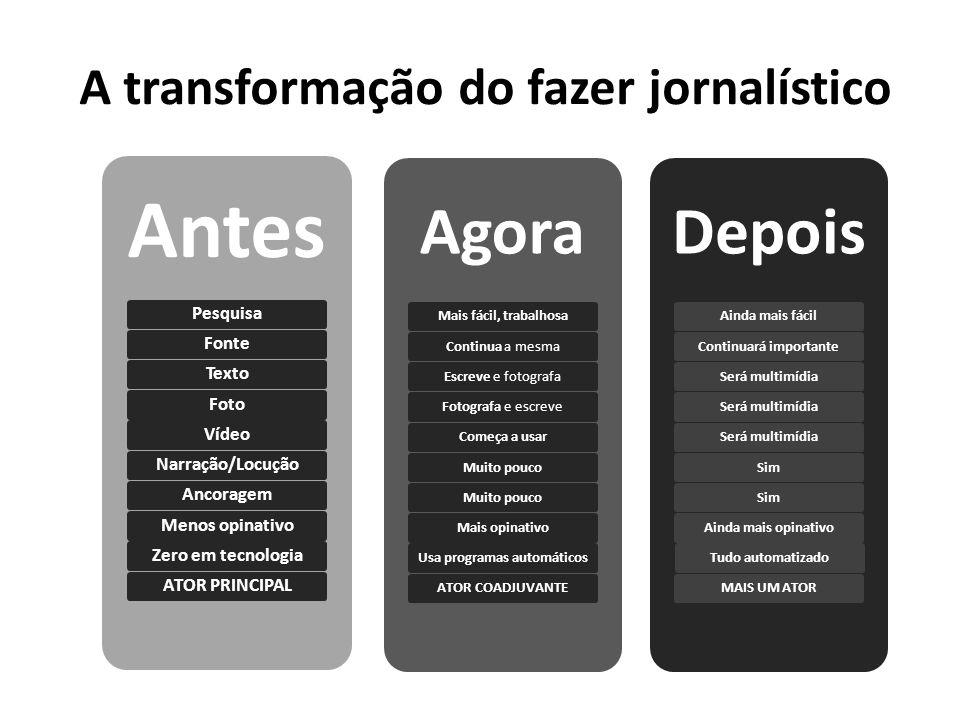 A transformação do fazer jornalístico