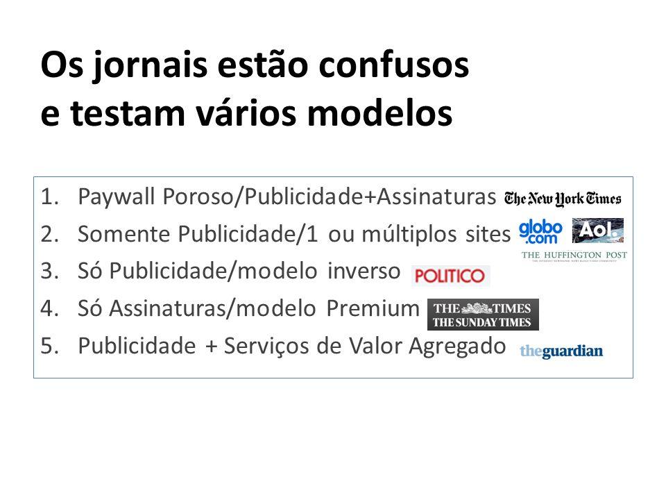 Os jornais estão confusos e testam vários modelos