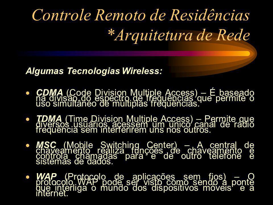 Controle Remoto de Residências *Arquitetura de Rede