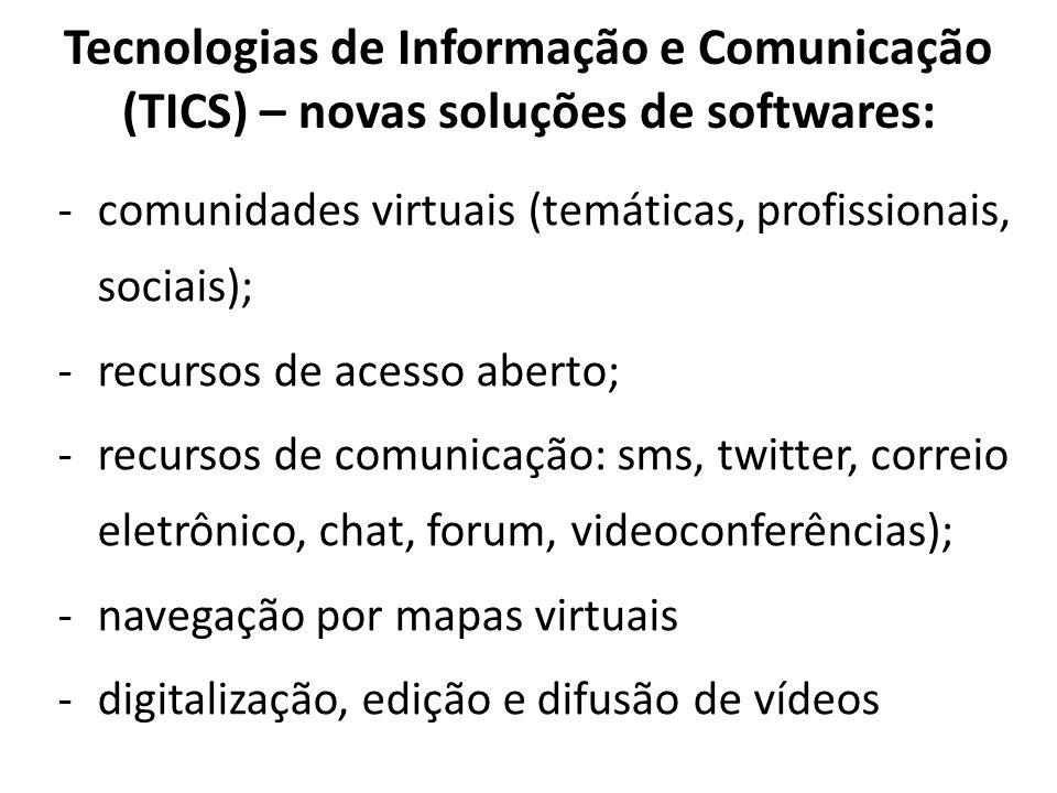 Tecnologias de Informação e Comunicação (TICS) – novas soluções de softwares: