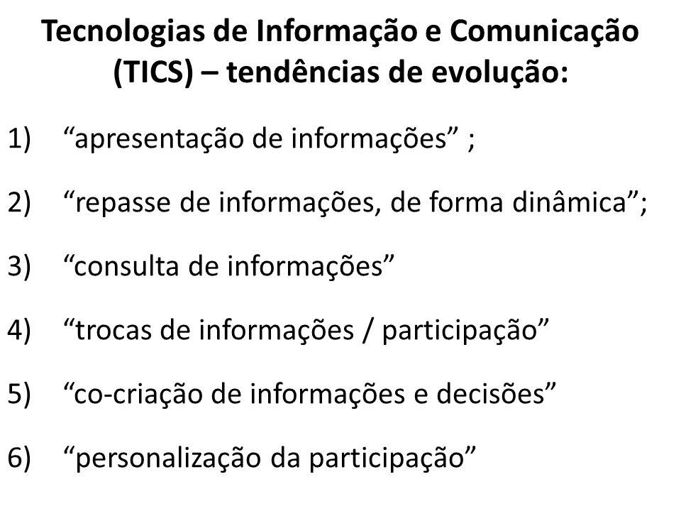 Tecnologias de Informação e Comunicação (TICS) – tendências de evolução: