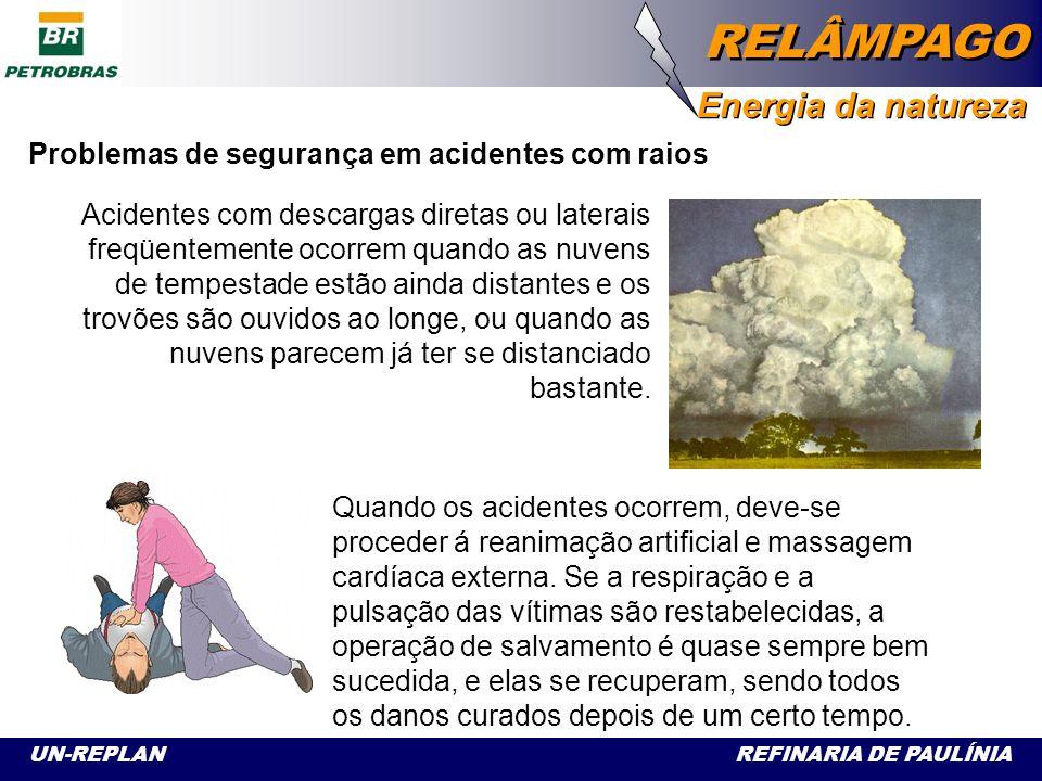 Problemas de segurança em acidentes com raios