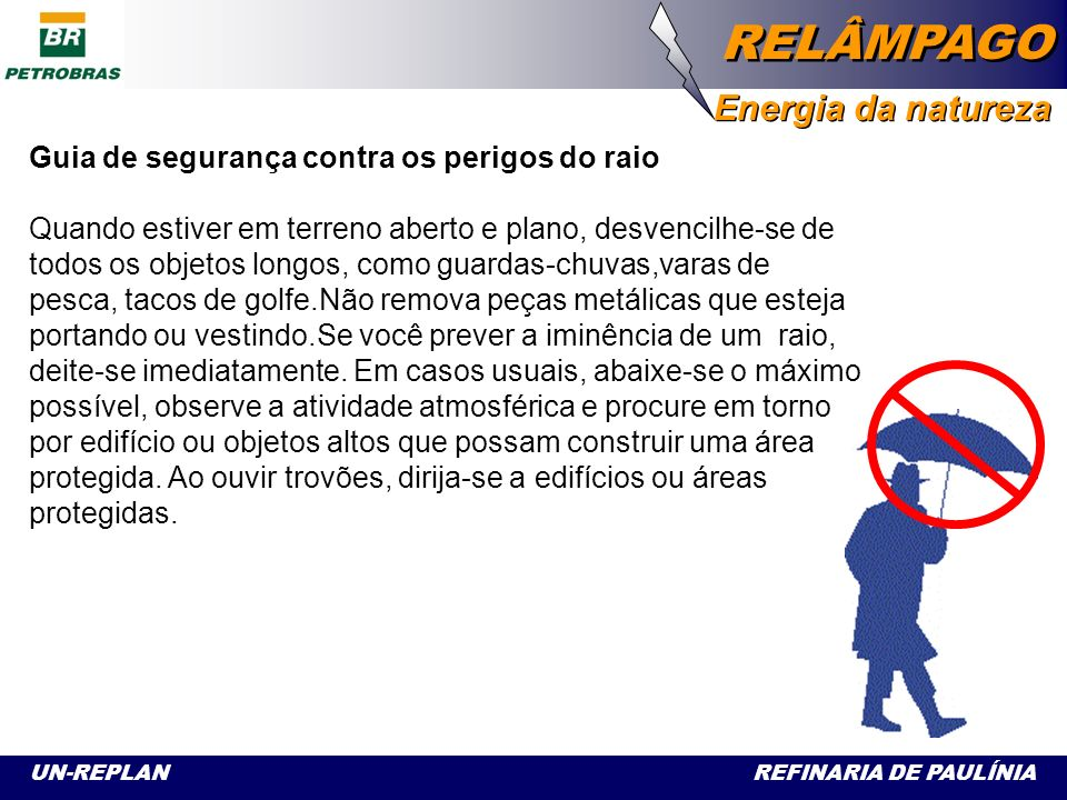 Guia de segurança contra os perigos do raio