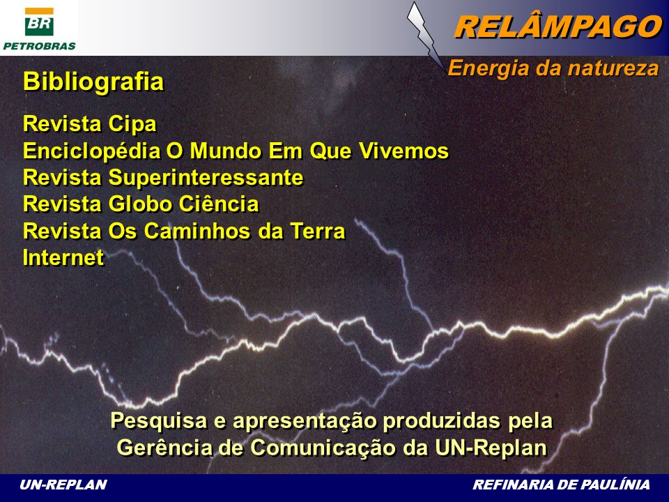 Bibliografia Energia da natureza Revista Cipa