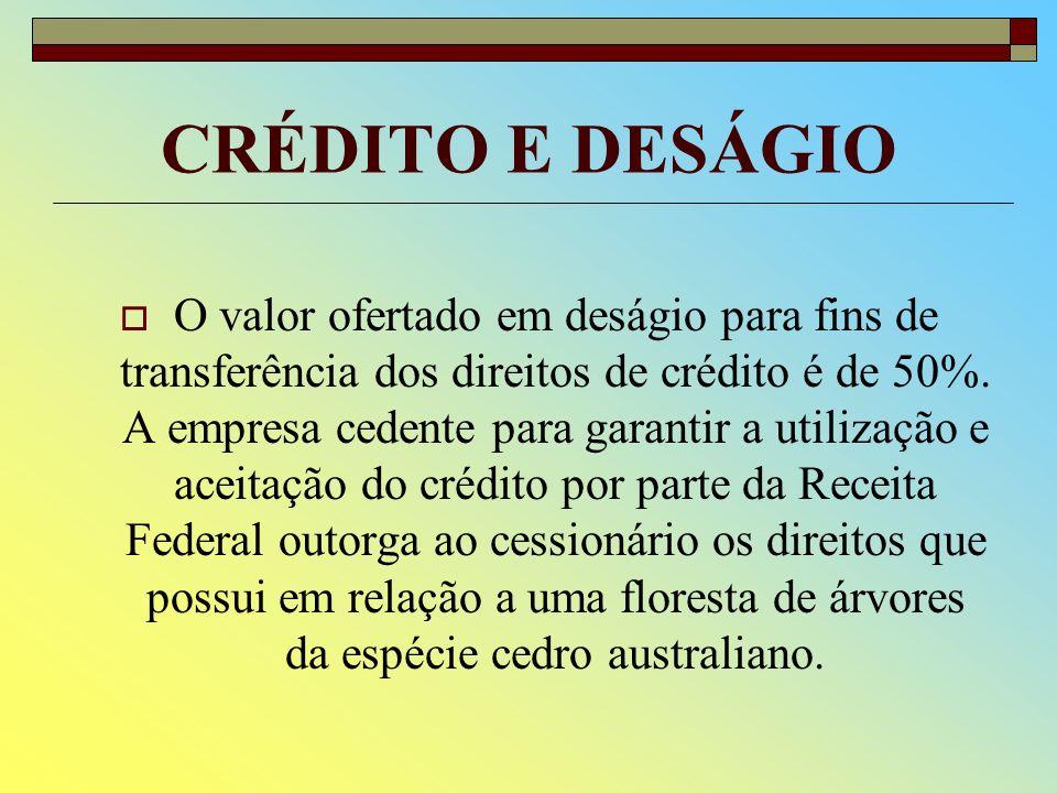 CRÉDITO E DESÁGIO