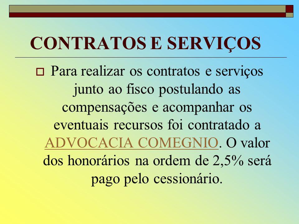 CONTRATOS E SERVIÇOS