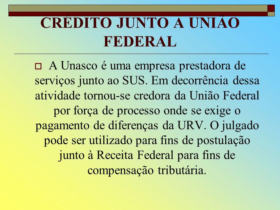 CRÉDITO JUNTO A UNIÃO FEDERAL