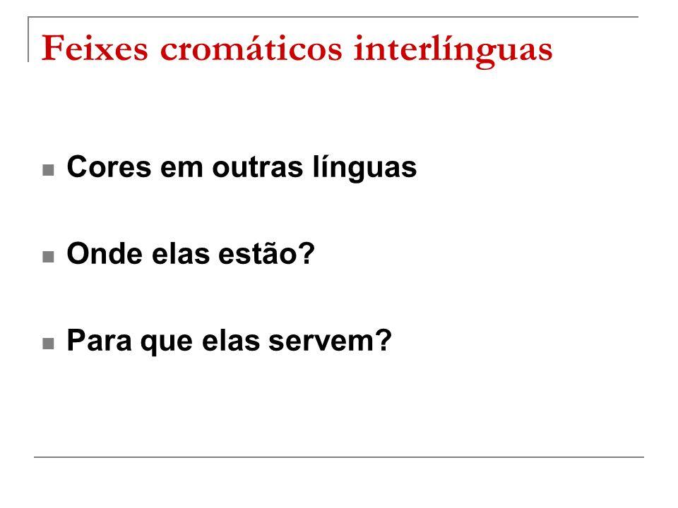 Feixes cromáticos interlínguas
