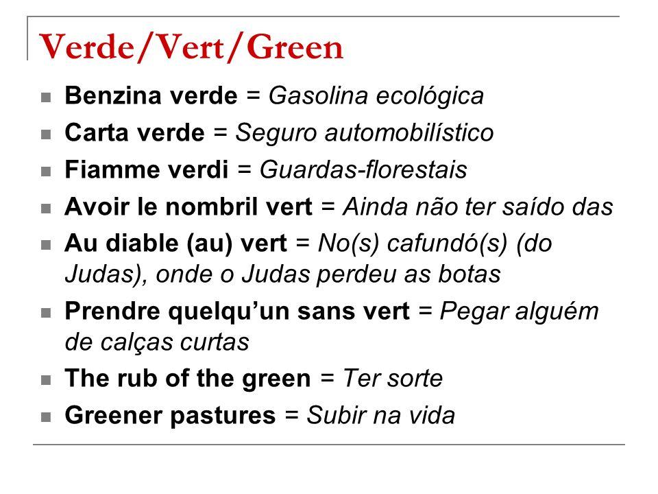 Verde/Vert/Green Benzina verde = Gasolina ecológica
