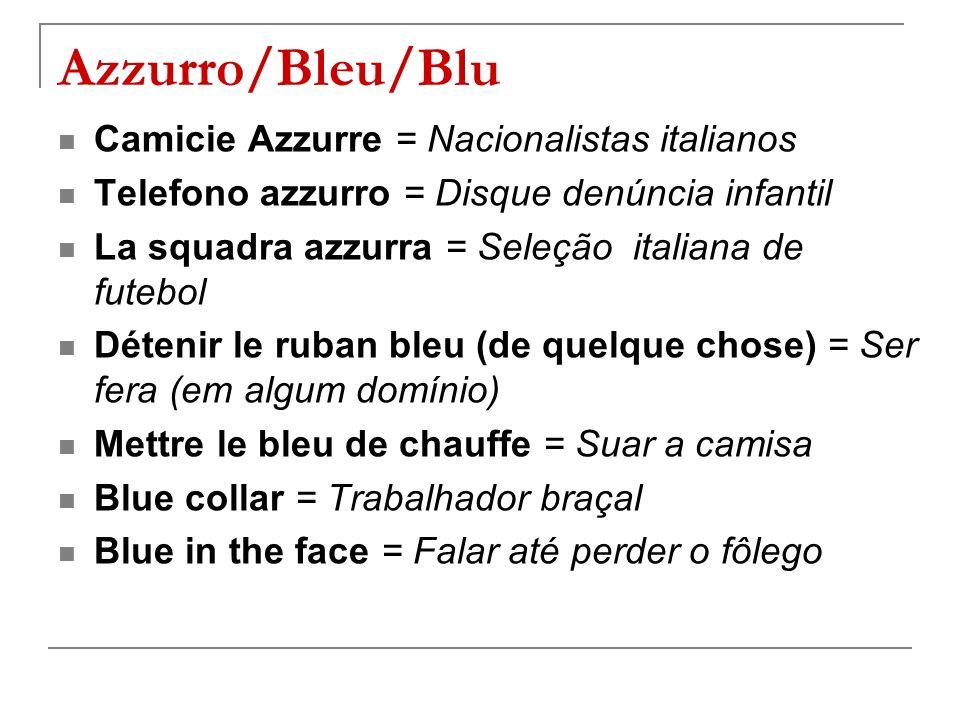 Azzurro/Bleu/Blu Camicie Azzurre = Nacionalistas italianos