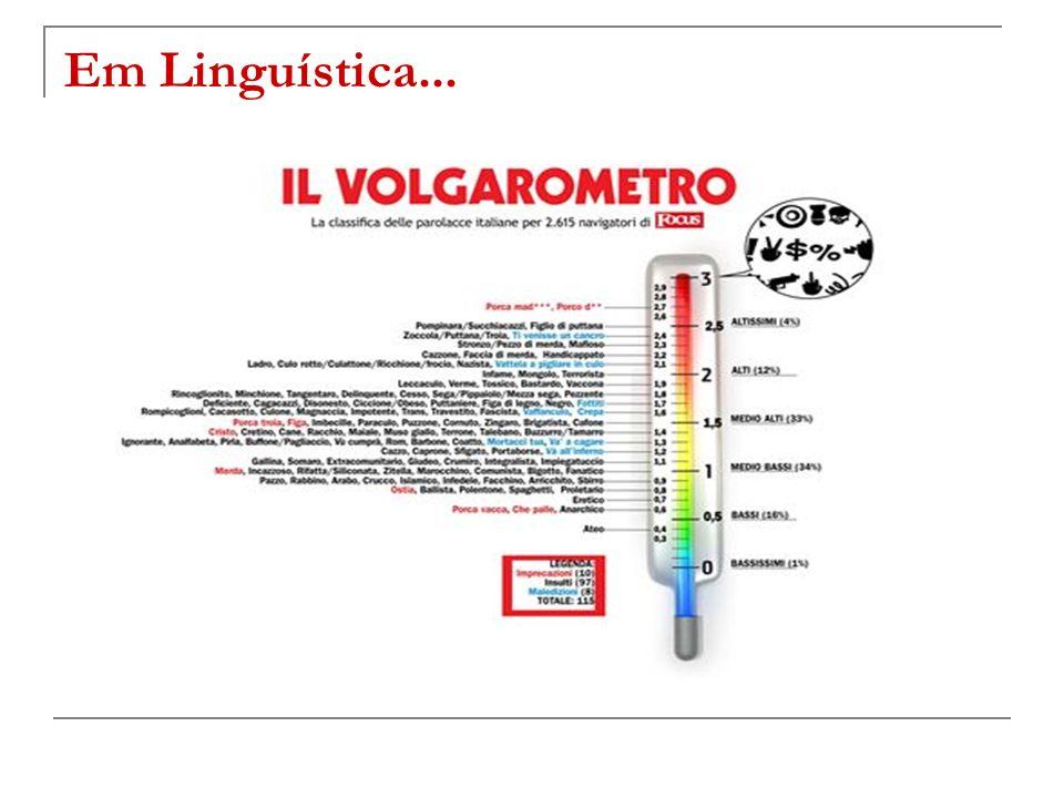 Em Linguística...