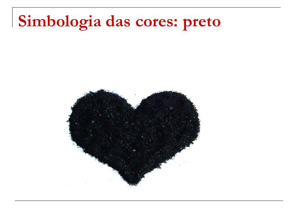 Simbologia das cores: preto