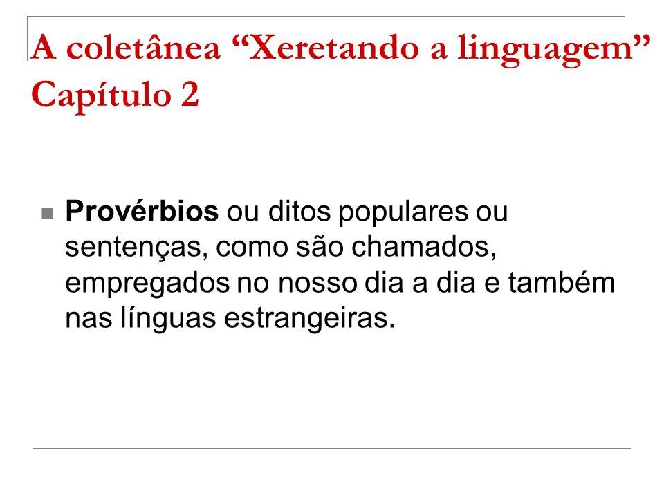 A coletânea Xeretando a linguagem Capítulo 2