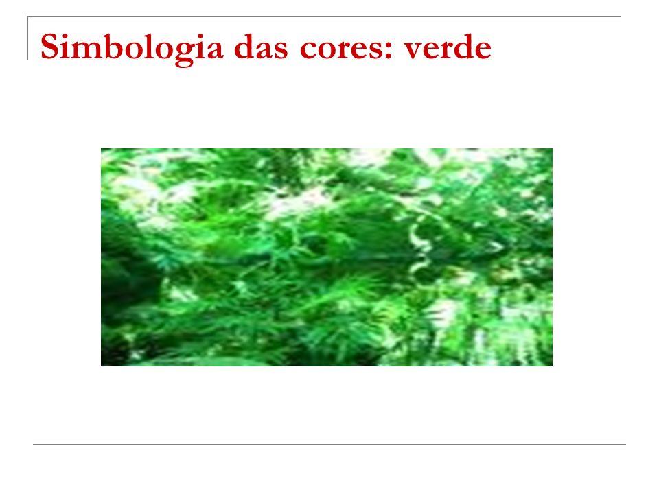 Simbologia das cores: verde