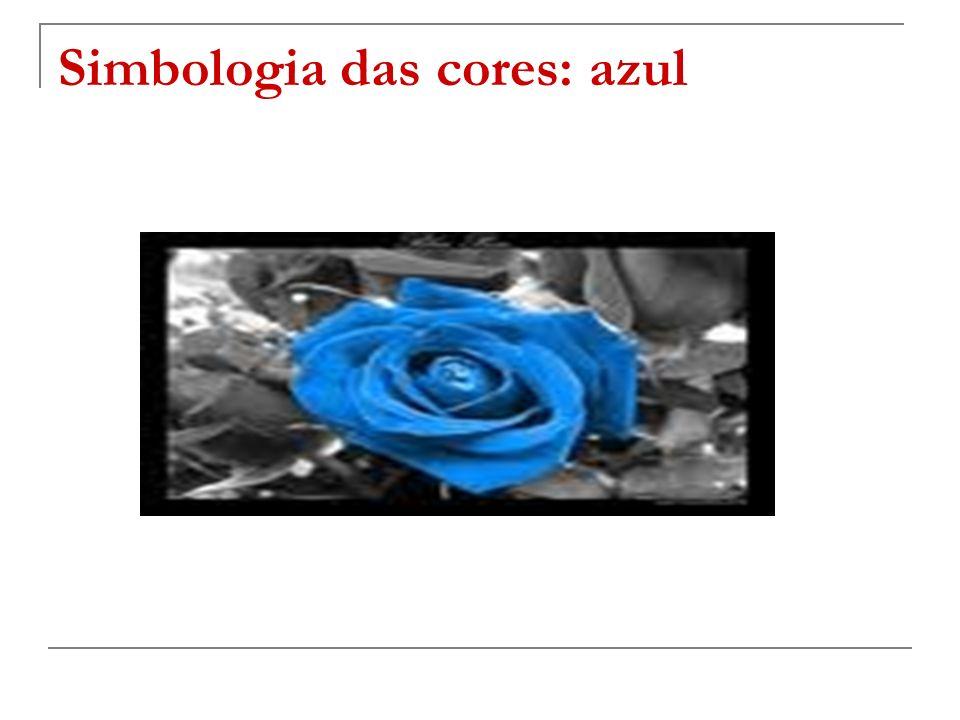 Simbologia das cores: azul