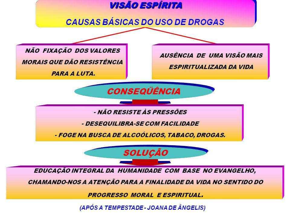 CAUSAS BÁSICAS DO USO DE DROGAS