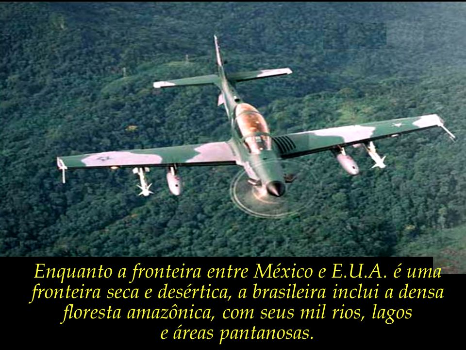 Enquanto a fronteira entre México e E.U.A. é uma