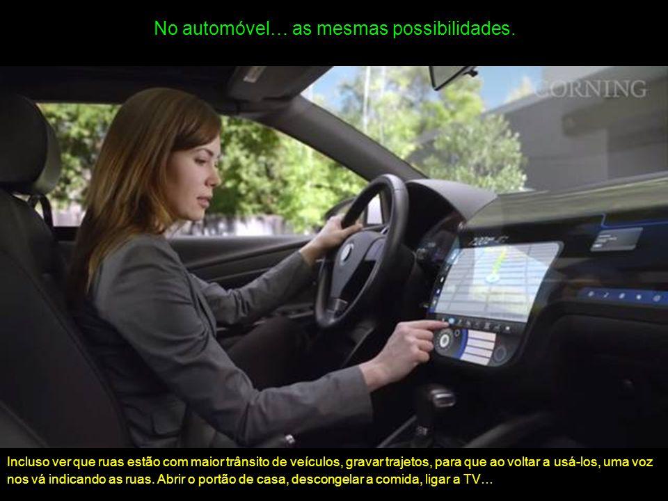 No automóvel… as mesmas possibilidades.