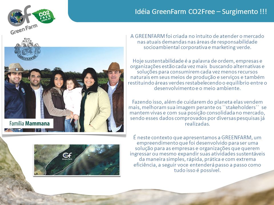 Idéia GreenFarm CO2Free – Surgimento !!!