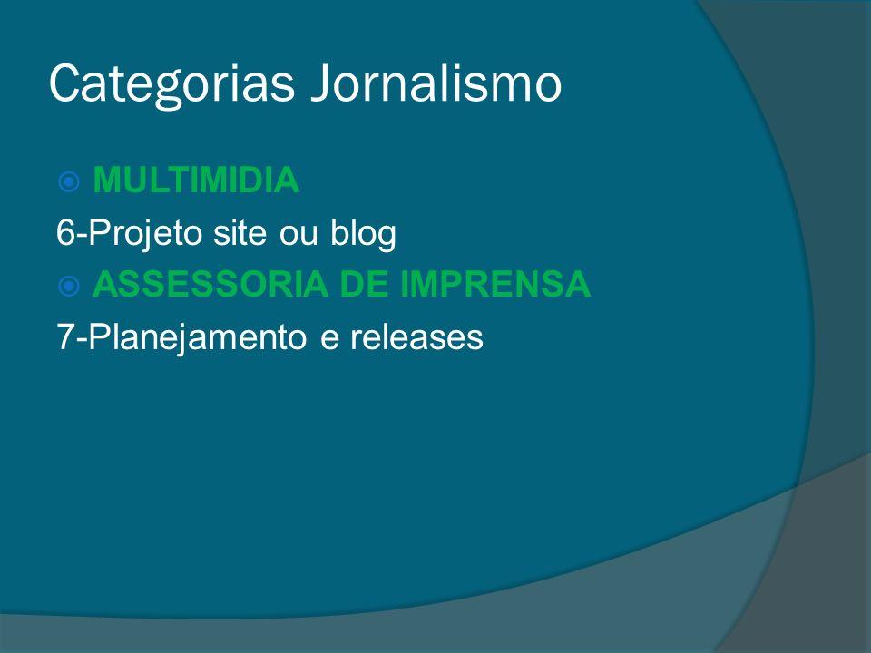Categorias Jornalismo