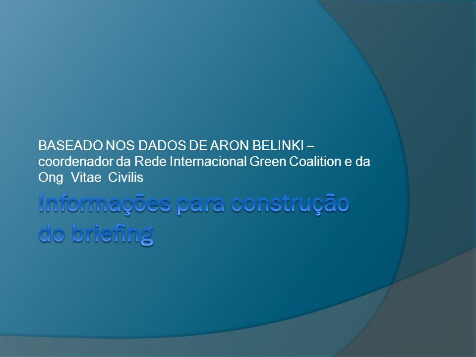 Informações para construção do briefing