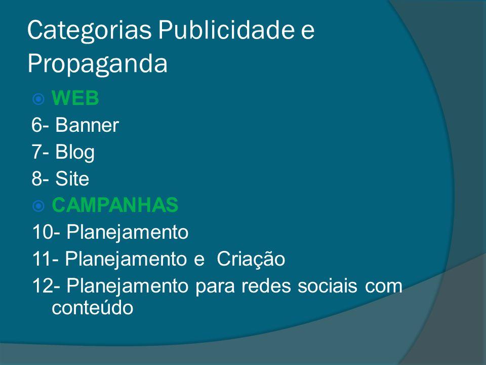 Categorias Publicidade e Propaganda