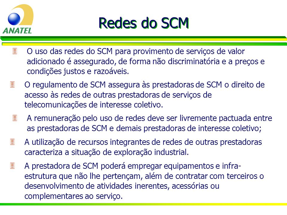 Redes do SCM