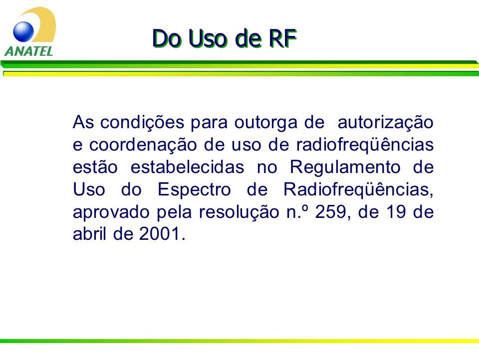 Do Uso de RF