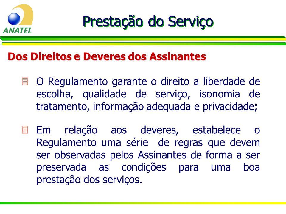 Prestação do Serviço Dos Direitos e Deveres dos Assinantes