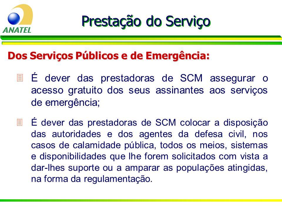 Prestação do Serviço Dos Serviços Públicos e de Emergência: