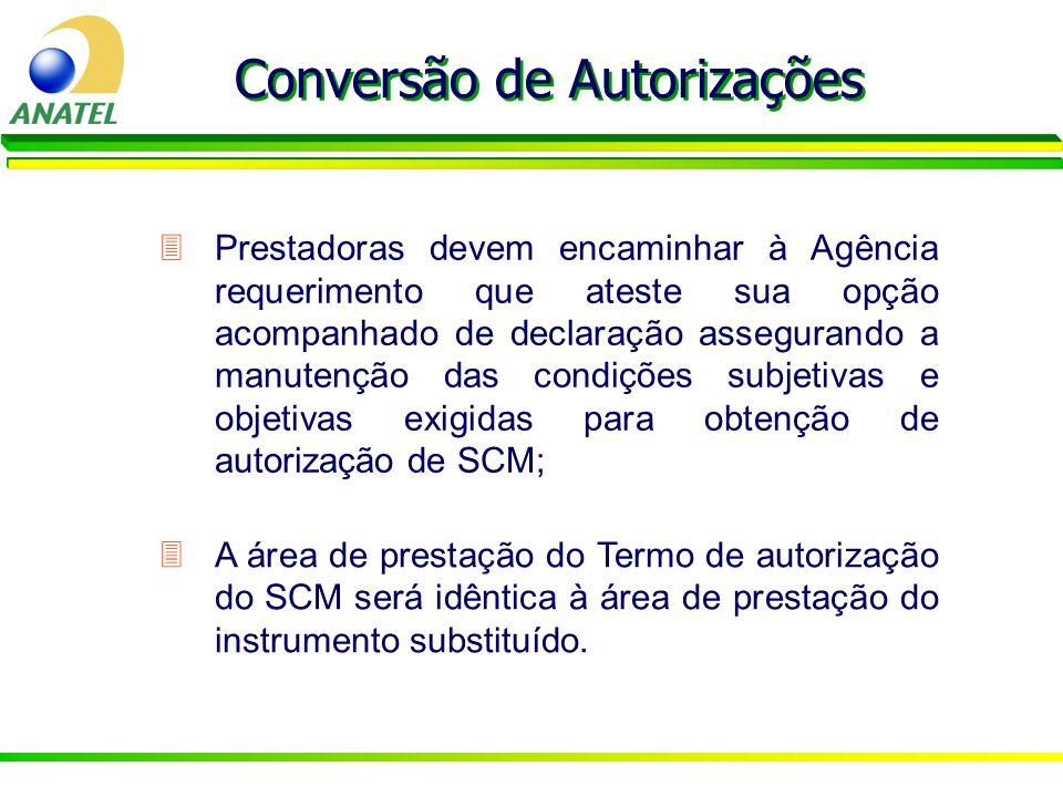 Conversão de Autorizações