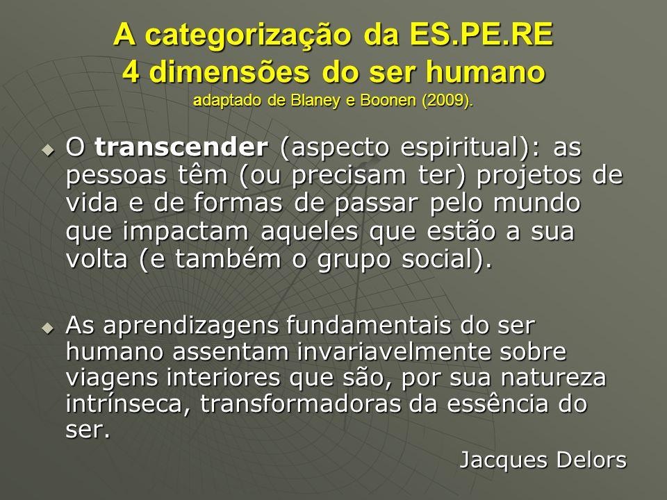A categorização da ES. PE