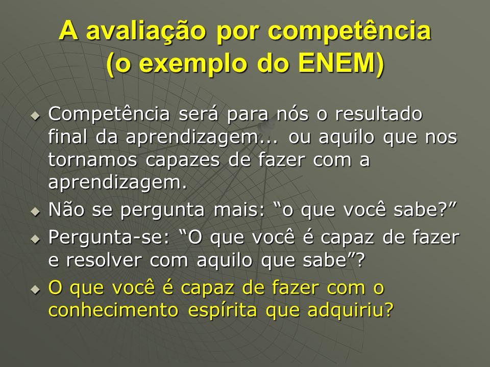 A avaliação por competência (o exemplo do ENEM)