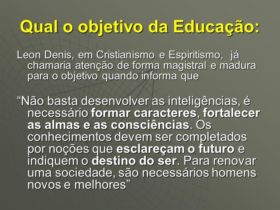Qual o objetivo da Educação: