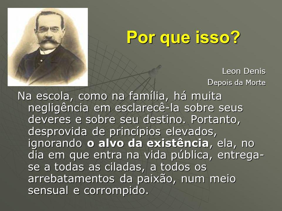 Por que isso Leon Denis. Depois da Morte.