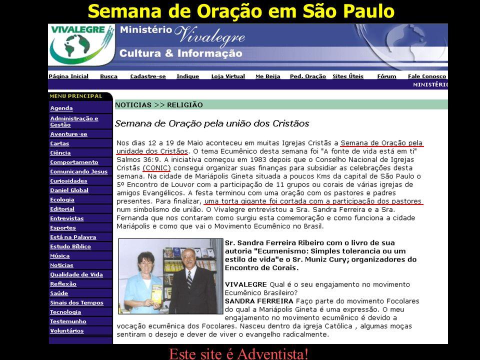 Semana de Oração em São Paulo
